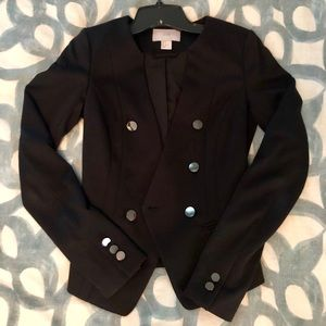 Black Blazer with Silver Buttons